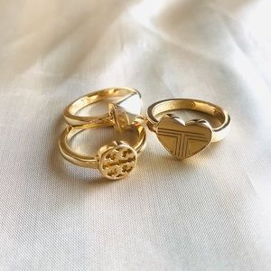 Tory Burch Adeline stackable ring set Size 7